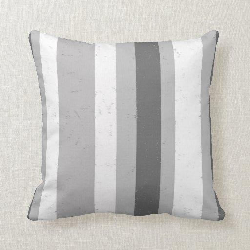 Light Grey Throw Pillow : Dark Light Grey White Random Distressed Stripes Throw Pillow Zazzle