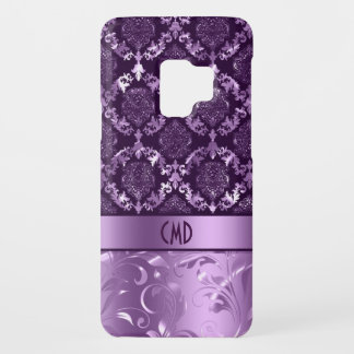 Dark & Light Metallic Purple Damasks & Lace Case-Mate Samsung Galaxy S9 Case