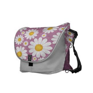 Dark Lilac Chamomile Messenger Bag