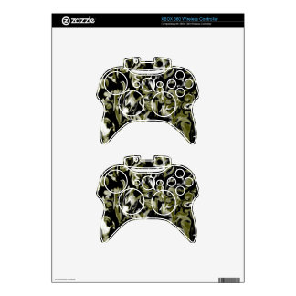 Dark Lime Green, Black and White mix -SK- Xbox 360 Controller Skins