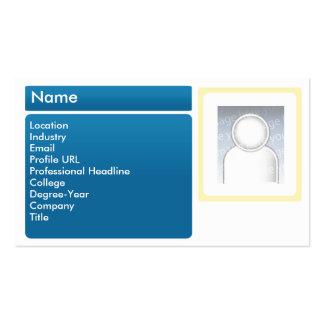 Dark LinkedIn - Business Business Card Template
