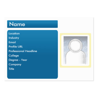 Dark LinkedIn - Chubby Large Business Cards (Pack Of 100)