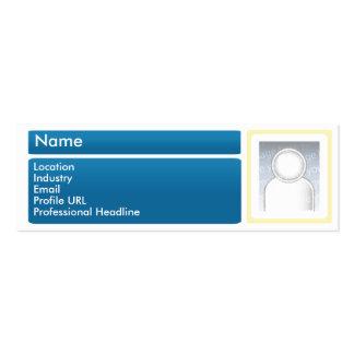 Dark LinkedIn - Skinny Double-Sided Mini Business Cards (Pack Of 20)