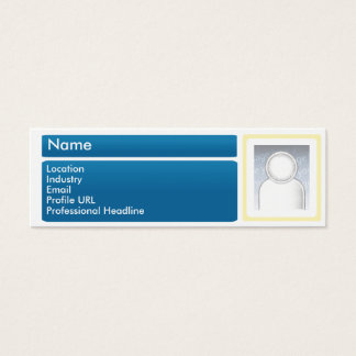 Dark LinkedIn - Skinny Mini Business Card