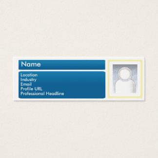 Dark Linkedin Skinny Mini Business Card