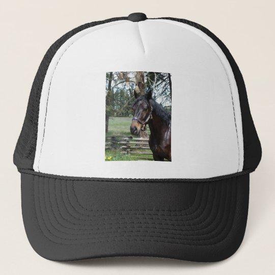 Dark Lipizon Horse Trucker Hat