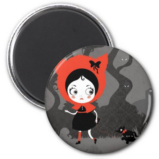 Dark Little Red Riding Hood Magnet