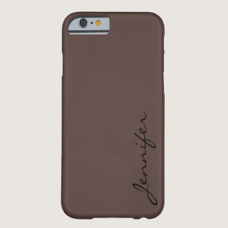 Dark liver (horses) color background barely there iPhone 6 case