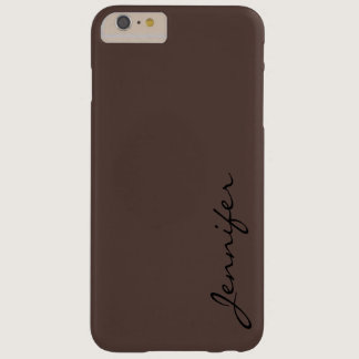 Dark liver (horses) color background barely there iPhone 6 plus case