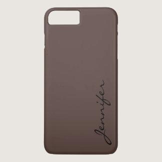 Dark liver (horses) color background iPhone 7 plus case