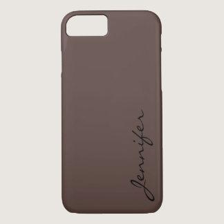 Dark liver (horses) color background iPhone 8/7 case