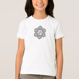Dark Lotus Flower Om T-Shirt