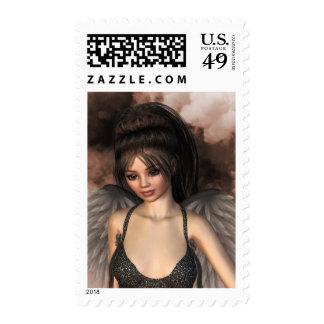 Dark Love Angel Grace Portrait Stamp