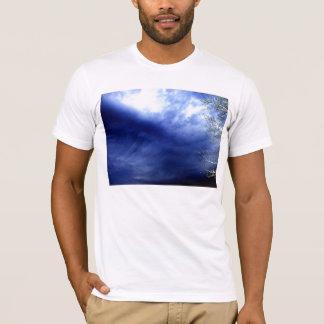 Dark Luminous Cirrus Storm Clouds and Electric Bra T-Shirt