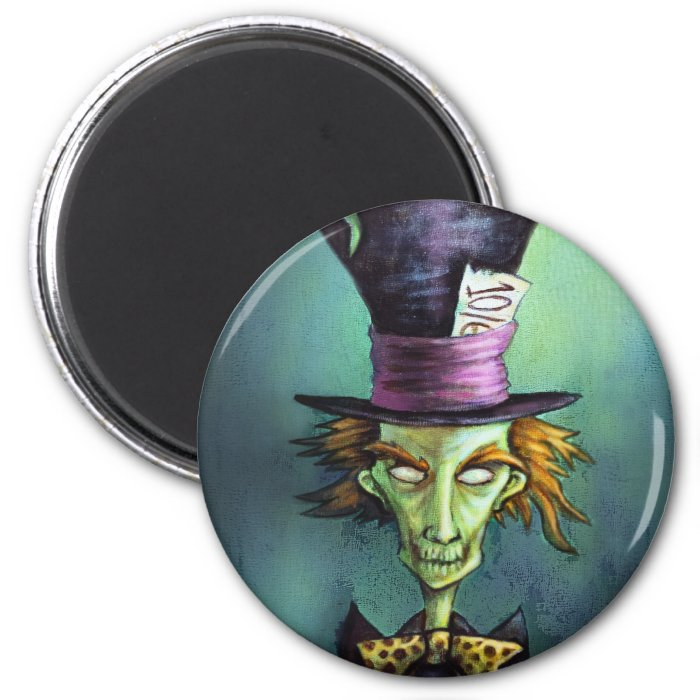 Dark Mad Hatter from Alice in Wonderland 2 Inch Round Magnet