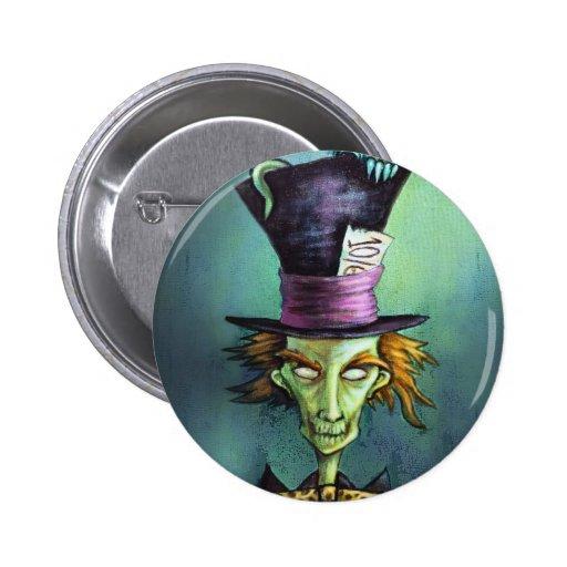 Dark Mad Hatter from Alice in Wonderland 2 Inch Round Button