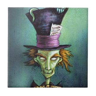 Dark Mad Hatter from Alice in Wonderland Ceramic Tile