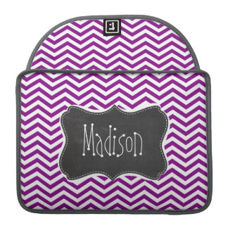 Dark Magenta Chevron; Retro Chalkboard MacBook Pro Sleeve
