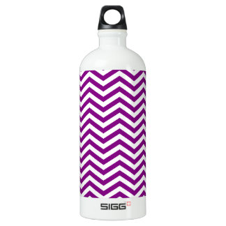 Dark Magenta Chevron Water Bottle