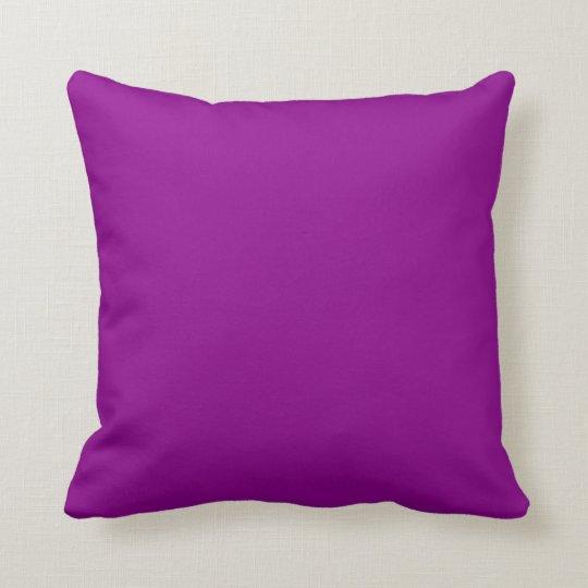 Dark Magenta Throw Pillow