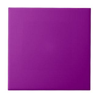 Dark Magenta Violet Solid Color Tile