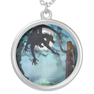 Dark Magic (Necklace/Pendant) Round Pendant Necklace