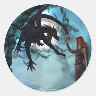 Dark Magic (Stickers) Classic Round Sticker