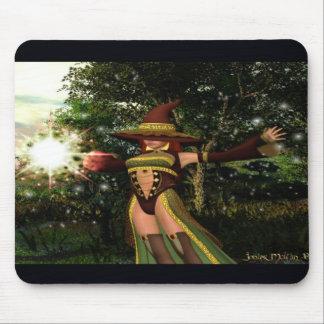 Dark Magician Girl Magic Summon: Solar Burst! Mousepads