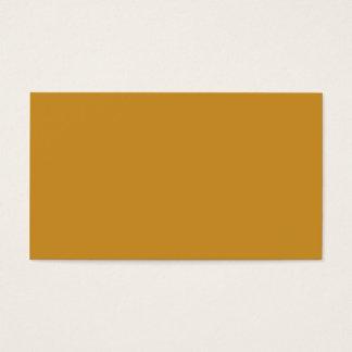 Dark Maize Color Business Card