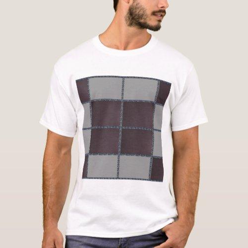 Dark Marble Surface Tiled T_Shirt