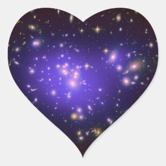 Dark Matter in Galaxy Cluster Abell 1689 (Hubble T Heart Sticker