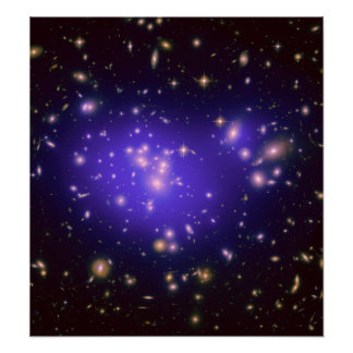 Dark Matter in Galaxy Cluster Abell 1689 (Hubble T Poster