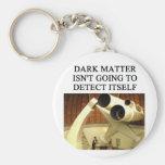 DARK matter physics joke Basic Round Button Keychain