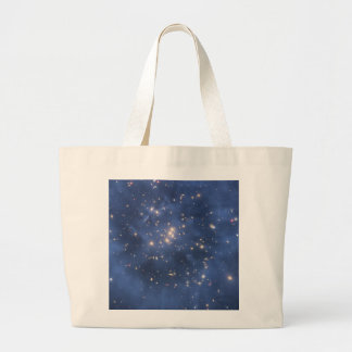 Dark Matter Ring and Galaxy Cluster in Cobalt Blue Tote Bags