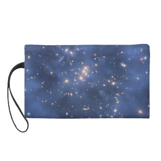 Dark Matter Ring and Galaxy Cluster in Cobalt Blue Wristlet Purse