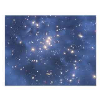 Dark Matter Ring and Galaxy Cluster in Cobalt Blue Card