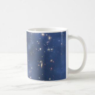 Dark Matter Ring and Galaxy Cluster in Cobalt Blue Coffee Mug