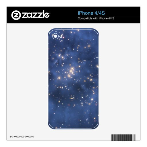Dark Matter Ring and Galaxy Cluster in Cobalt Blue Decal For iPhone 4S