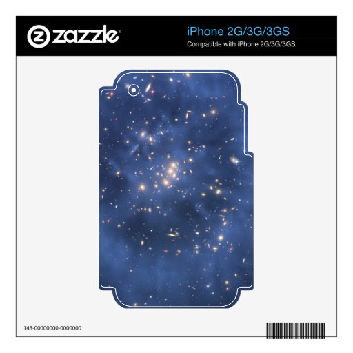 Dark Matter Ring and Galaxy Cluster in Cobalt Blue Skins For iPhone 3