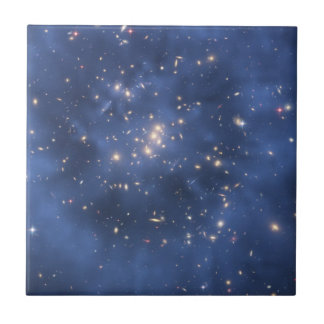 Dark Matter Ring and Galaxy Cluster in Cobalt Blue Tile