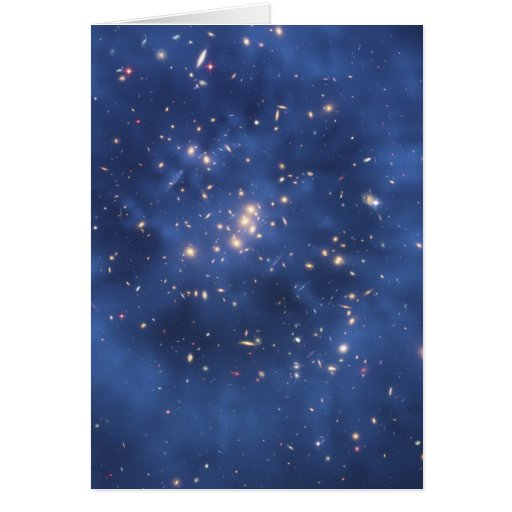 Dark Matter Ring in a Galaxy Cluster Greeting Card