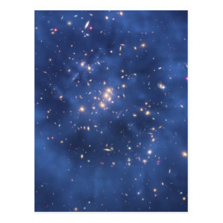 Dark Matter Ring in a Galaxy Cluster Postcard
