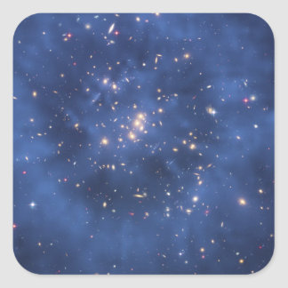 Dark Matter Ring in a Galaxy Cluster Square Sticker