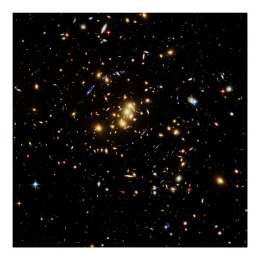 Dark Matter Ring in Galaxy Cluster Cl 0024 17 Poster