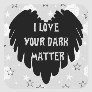Dark Matter Square Sticker