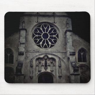 Dark medieval Gothic fantasy church Mouse Pad