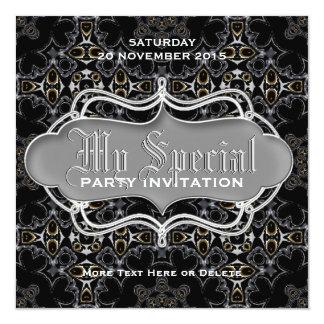 "Dark Medieval Tribal fusion Special Party Invites 5.25"" Square Invitation Card"