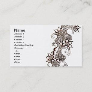 Image Of Visiting Card Design Mehndi Mehndi Designs Website
