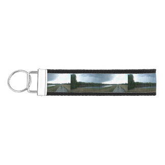 Dark Menacing Storm Cloud over a Lake valley Wrist Keychain
