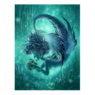 Dark Mermaid Postcard - Secret Kisses
